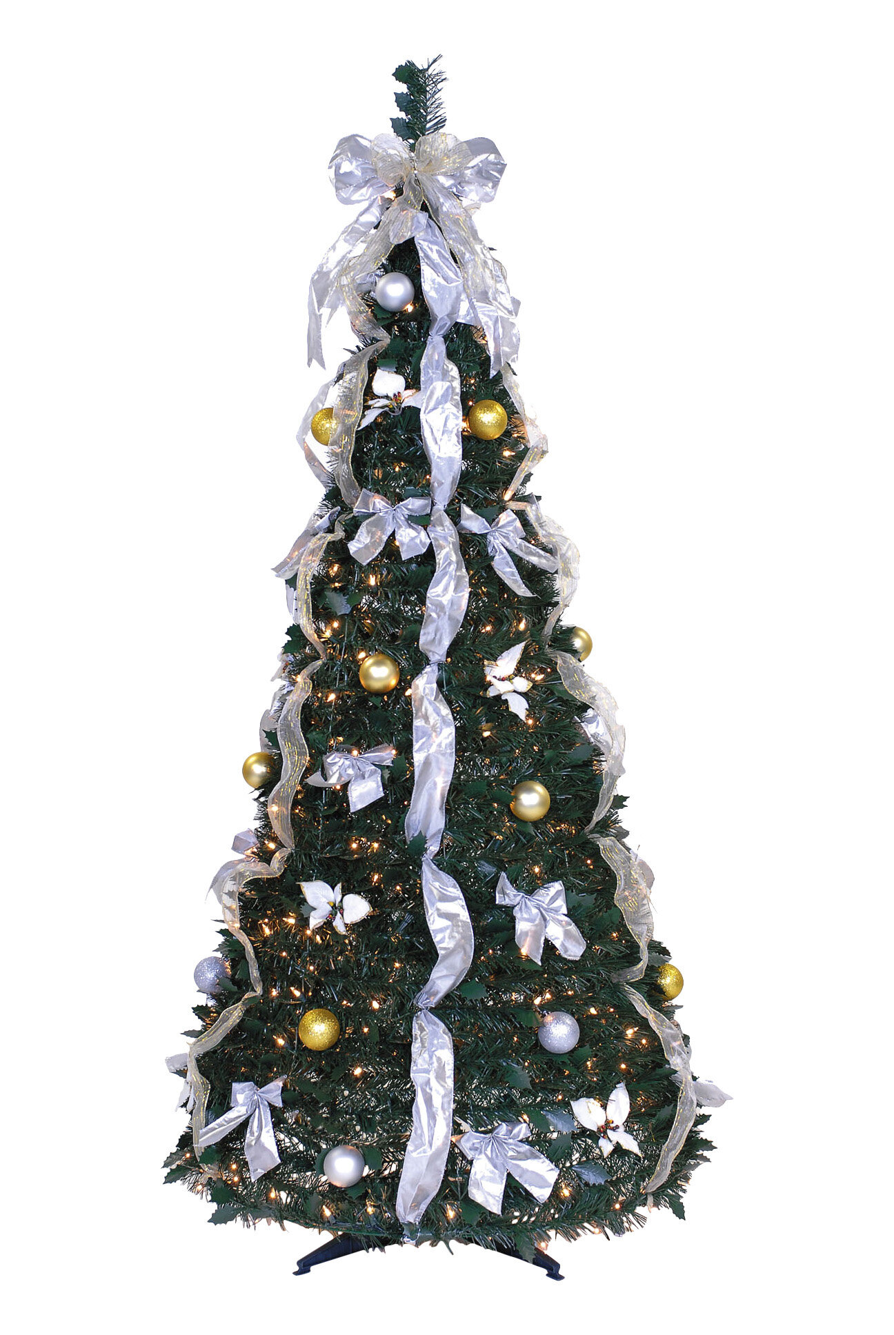 The Holiday Aisle 6\' Green Pine Trees Artificial Christmas Tree with ...