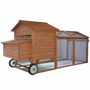 Bayer Wheeled Tractor Hen House Chicken Coop With Chicken Run