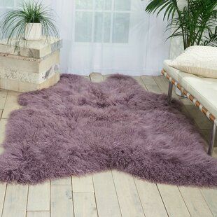 Christine Sheepskin Lavender Area Rug