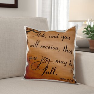 Orleans Verse John 16 24 Background Inspirational Saying Pillow Cover