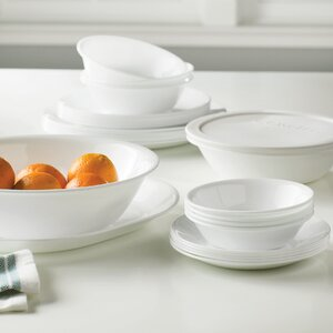 Livingware 74 Piece Dinnerware Set, Service for 12