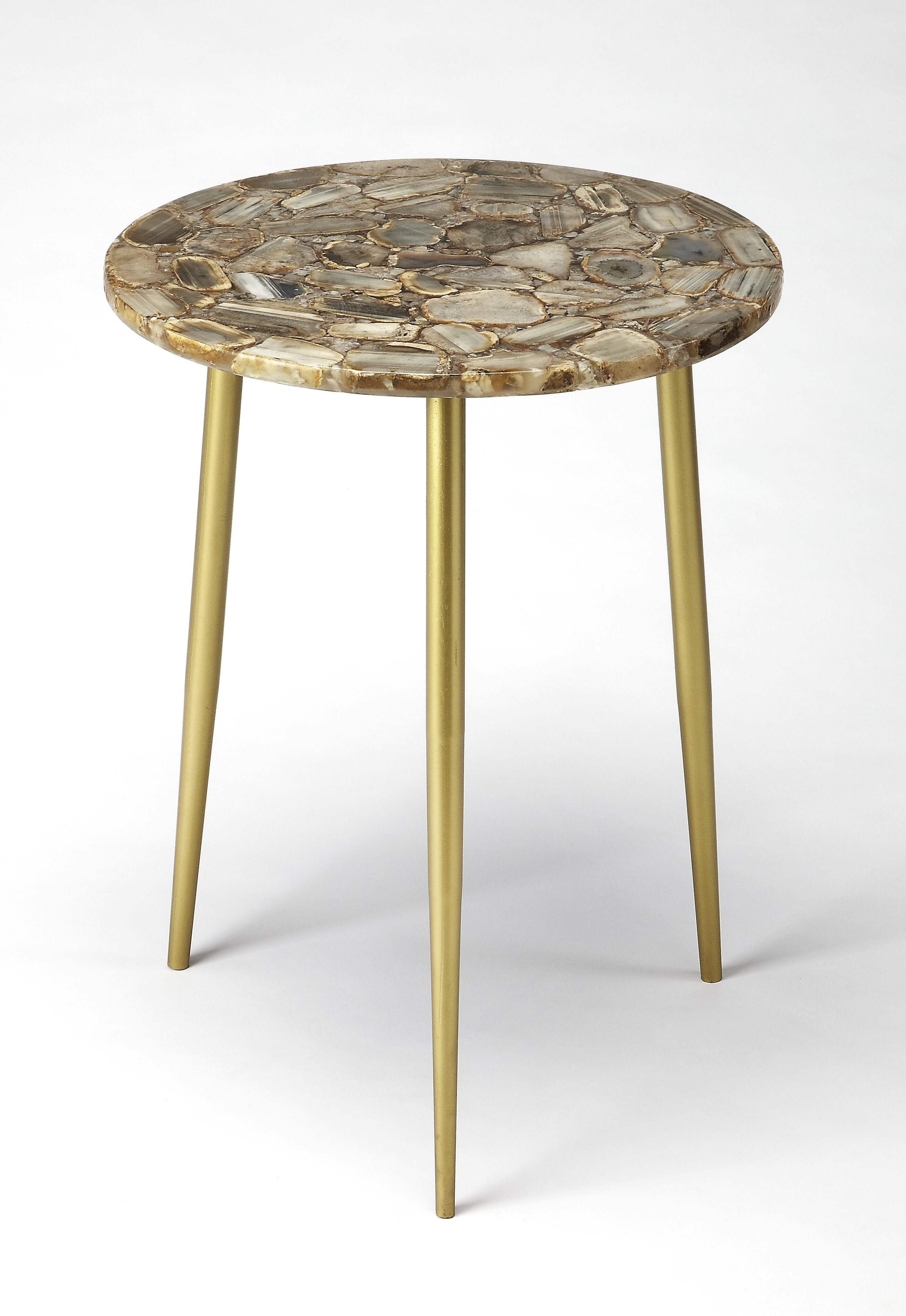 Everly Quinn Briley Agate End Table & Reviews
