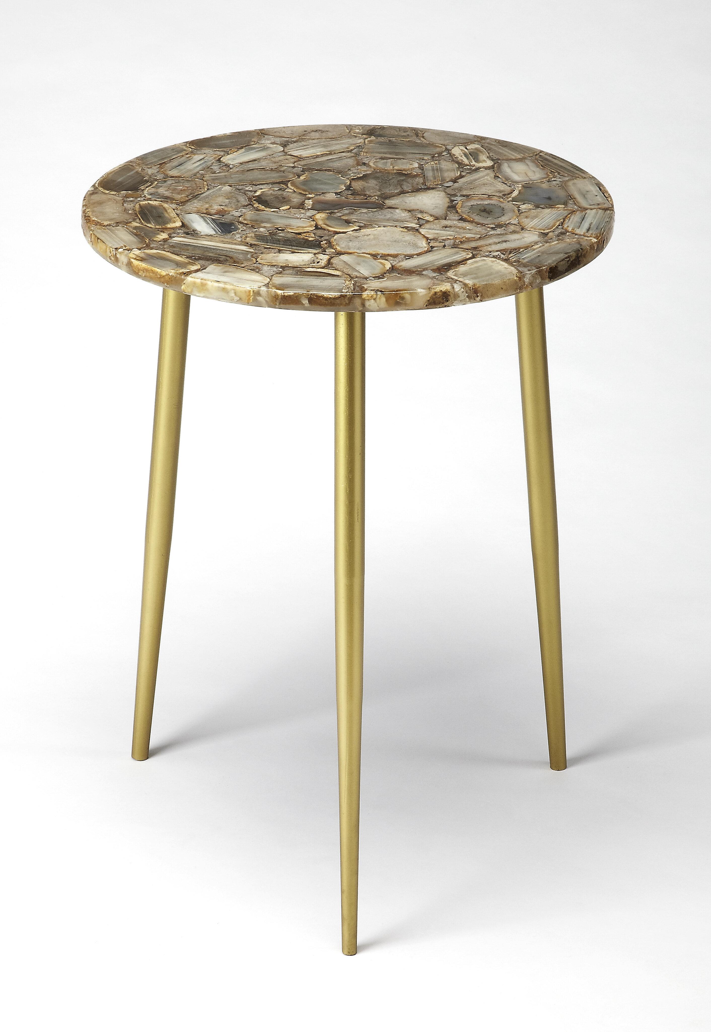 Superbe Everly Quinn Briley Agate End Table | Wayfair