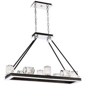 Bronstein 8-Light Barrel Glass Candle-Style Chandelier