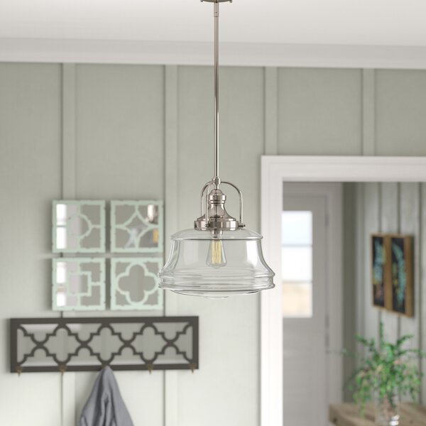 Nadine 1 Light Schoolhouse Pendant Amp Reviews Birch Lane