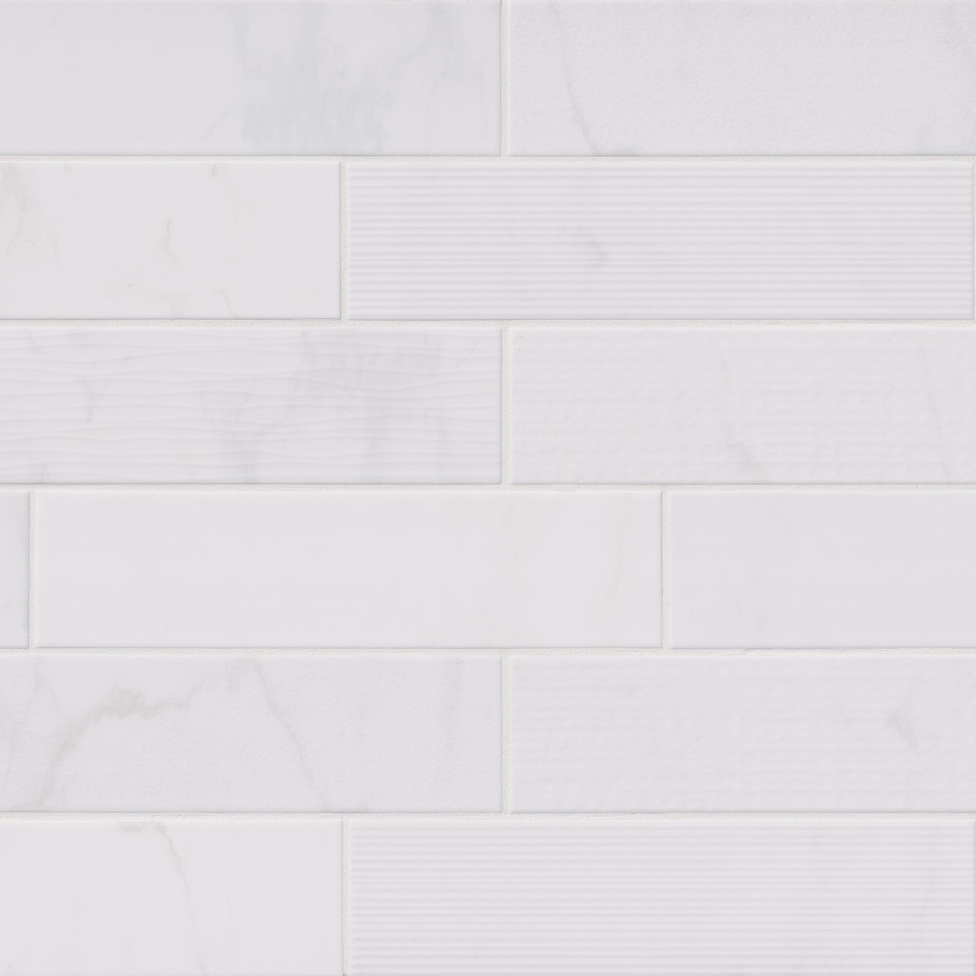 MSI Classique Mix X Ceramic Field Tile In White Reviews - 16 x 16 white ceramic floor tile