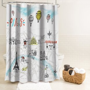 Salma Paris Fabric Shower Curtain