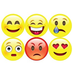 Great 6 Piece Emojis Wall Decal Set Part 30