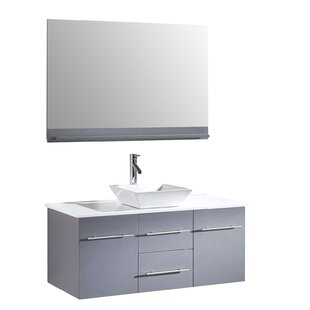 wall on with amare vanity single integrated marvelous set bathroom mounted inch