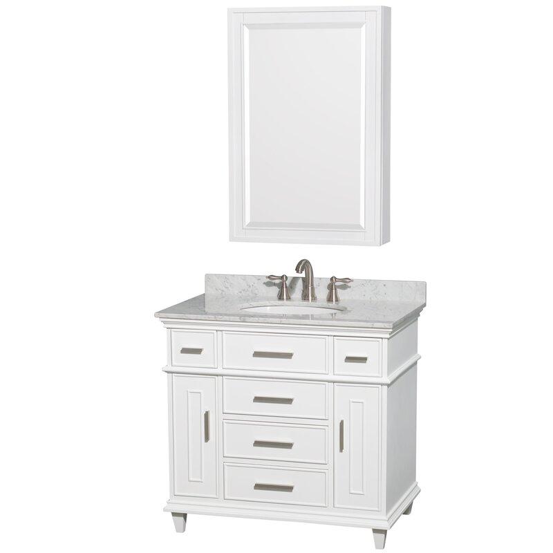 "Bathroom Fixtures Berkeley wyndham collection berkeley 34"" single white bathroom vanity set"