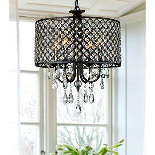 Crystal drop round chandelier wayfair mckamey round 4 light crystal chandelier aloadofball Image collections