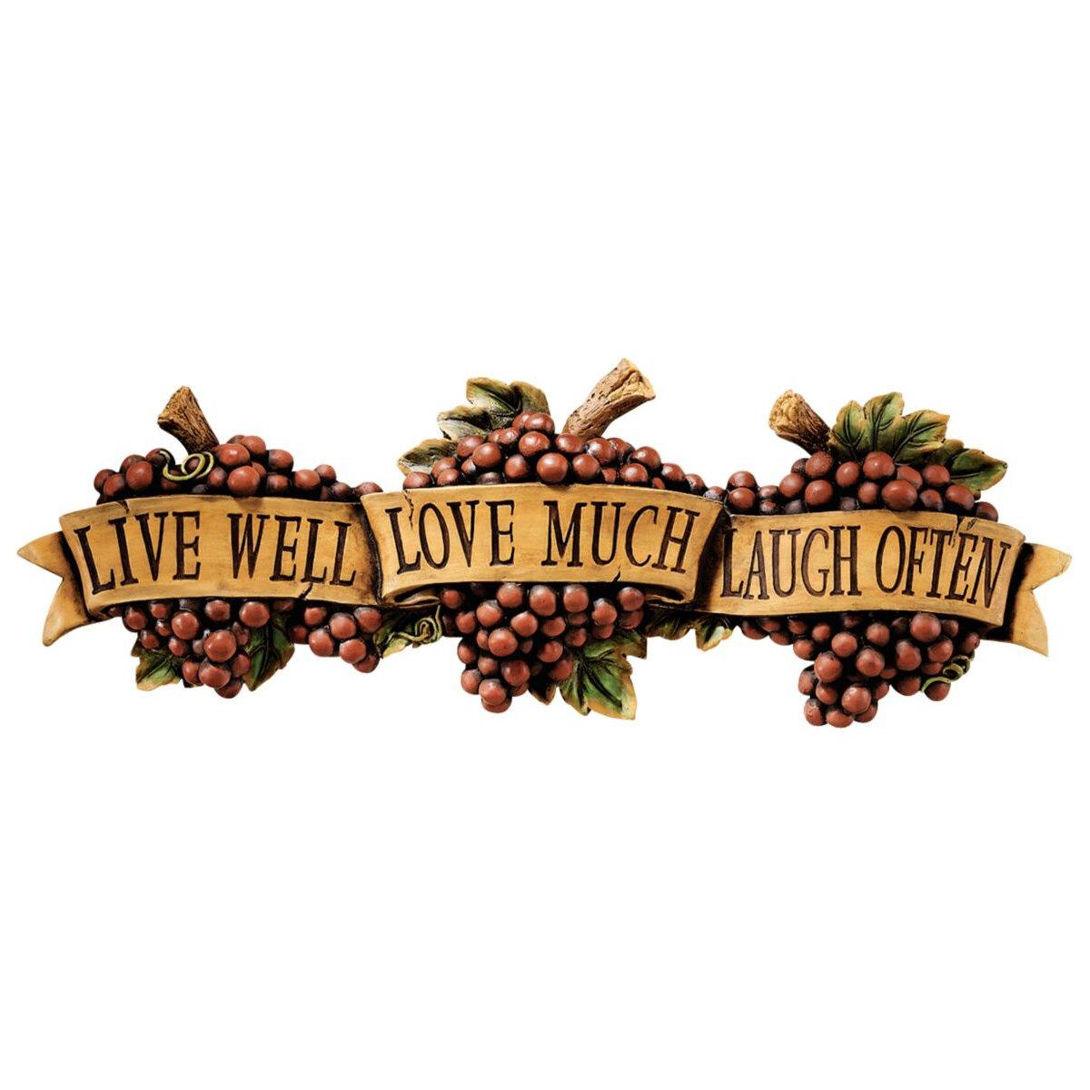 Design Toscano Live Love Laugh Wall Dcor Reviews Wayfair