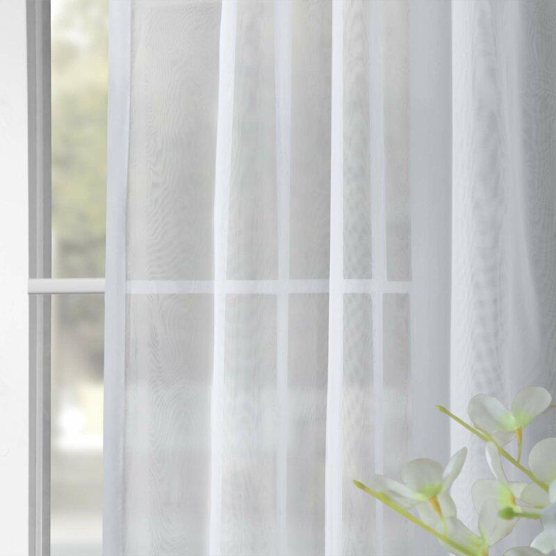 6534904599acb Tiya Double Layered Solid Sheer Single Curtain Panel