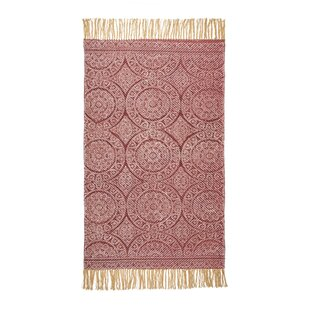 Ferry Handwoven Cotton Red Rug