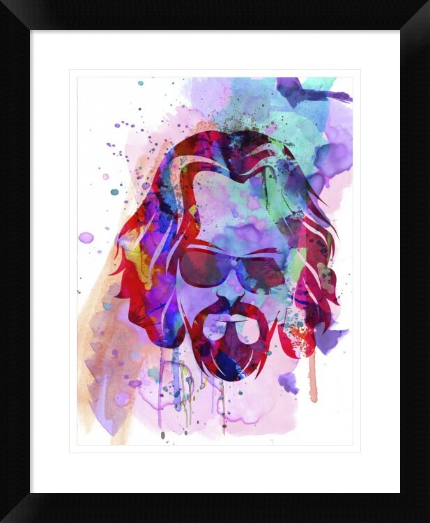 Naxart 39dude 39 framed watercolor painting print wayfair for Best brand of paint for kitchen cabinets with iron man wall art