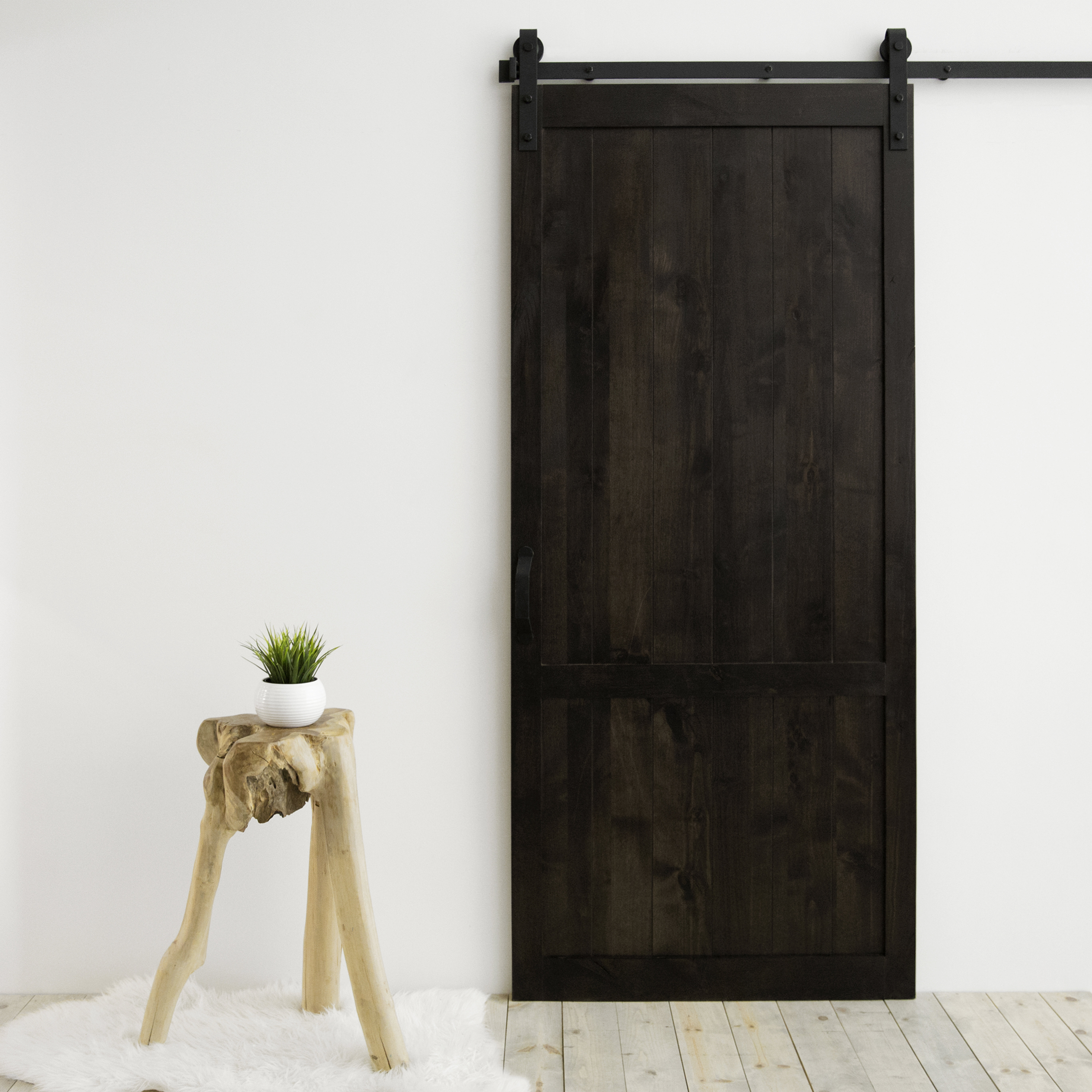Dogberry Collections Country Vintage Solid Panel Wood Slab Interior Barn Door Wayfair
