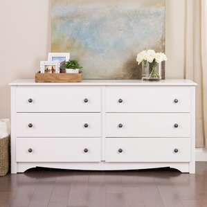 Sybil 6 Drawer Double Dresser by Andover Mills