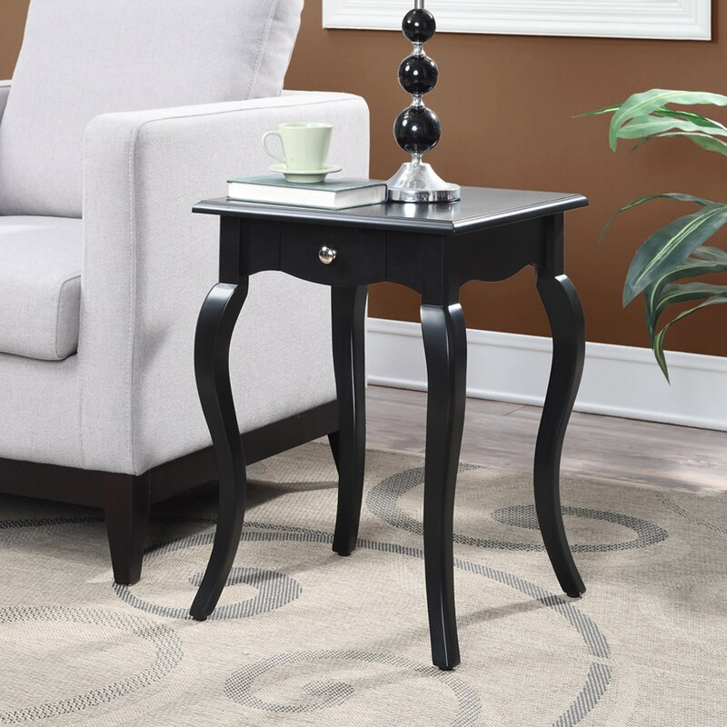 Hobart end table with storage reviews birch lane for Outdoor furniture hobart