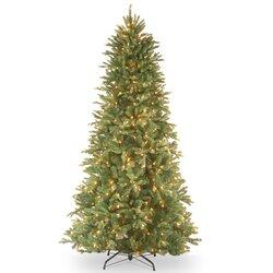 National Tree Co. Tiffany Fir 7.5' Green Slim Artificial Christmas ...
