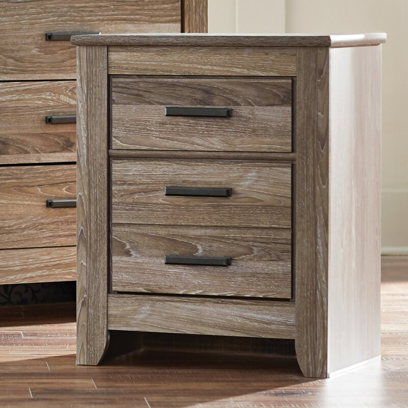 trent austin design herard 2 drawer nightstand & reviews | wayfair Night Stand Images