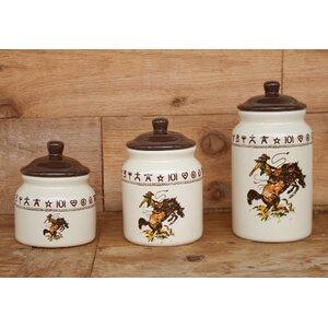 Elettra 3 Piece Ceramic Storage Jar Set