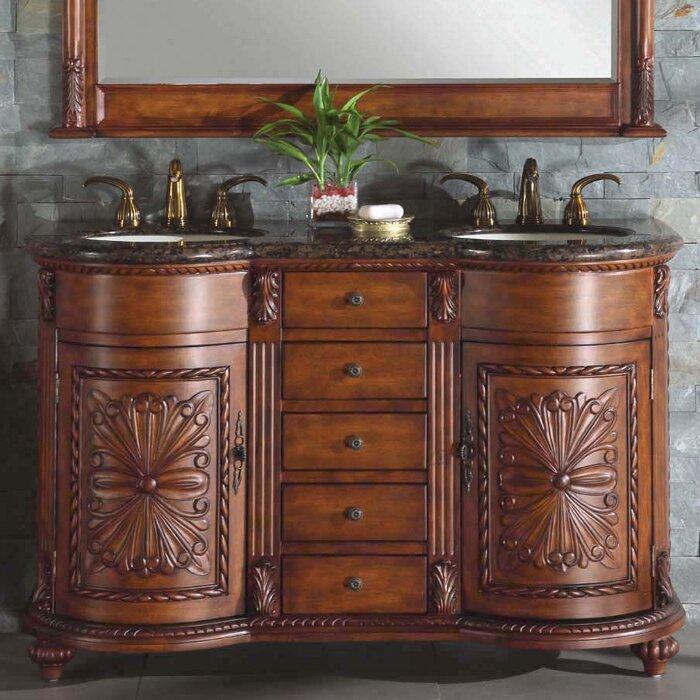 54 inch vanity double sink. Alexandra 54  Double Bathroom Vanity Set Inch Wayfair
