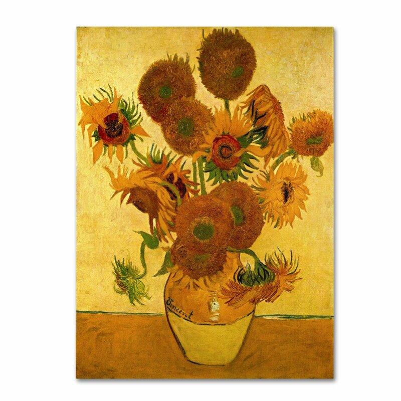 Fleur De Lis Living Vase With Sunflowers By Vincent Van Gogh