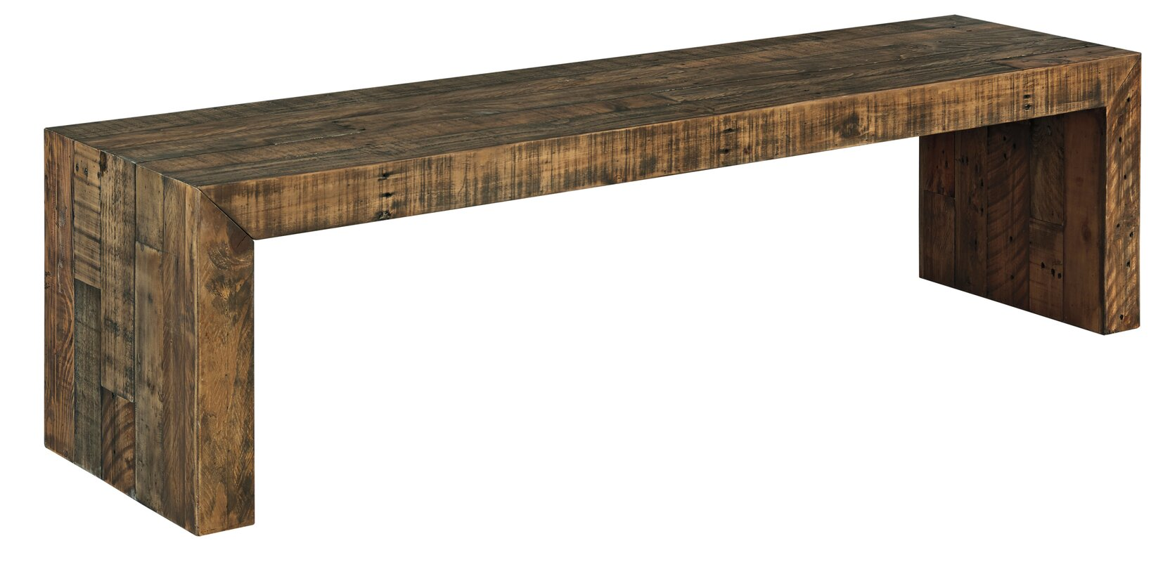 world menagerie devanna wood dining bench  reviews  wayfair - defaultname