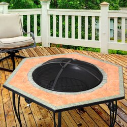 cast iron wood burning fire pit table