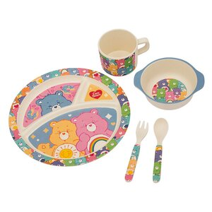 Care Bears Bamboo 5 Piece Mealtime Place Setting Set, Service for 1