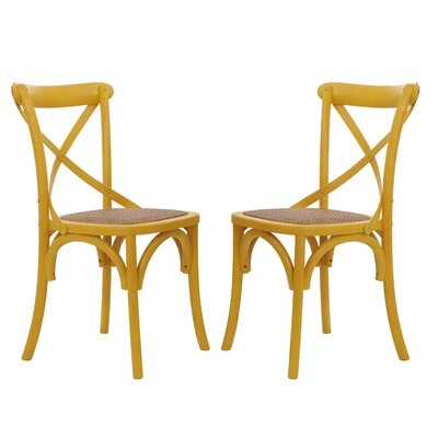 Vanhook Side Chair August Grove Color: Yellow