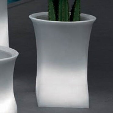 "100 Essentials Brightness Plastic Pot Planter  Size: 27.56"" H x 20.87"" W x 20.87"" D, Color: Black"