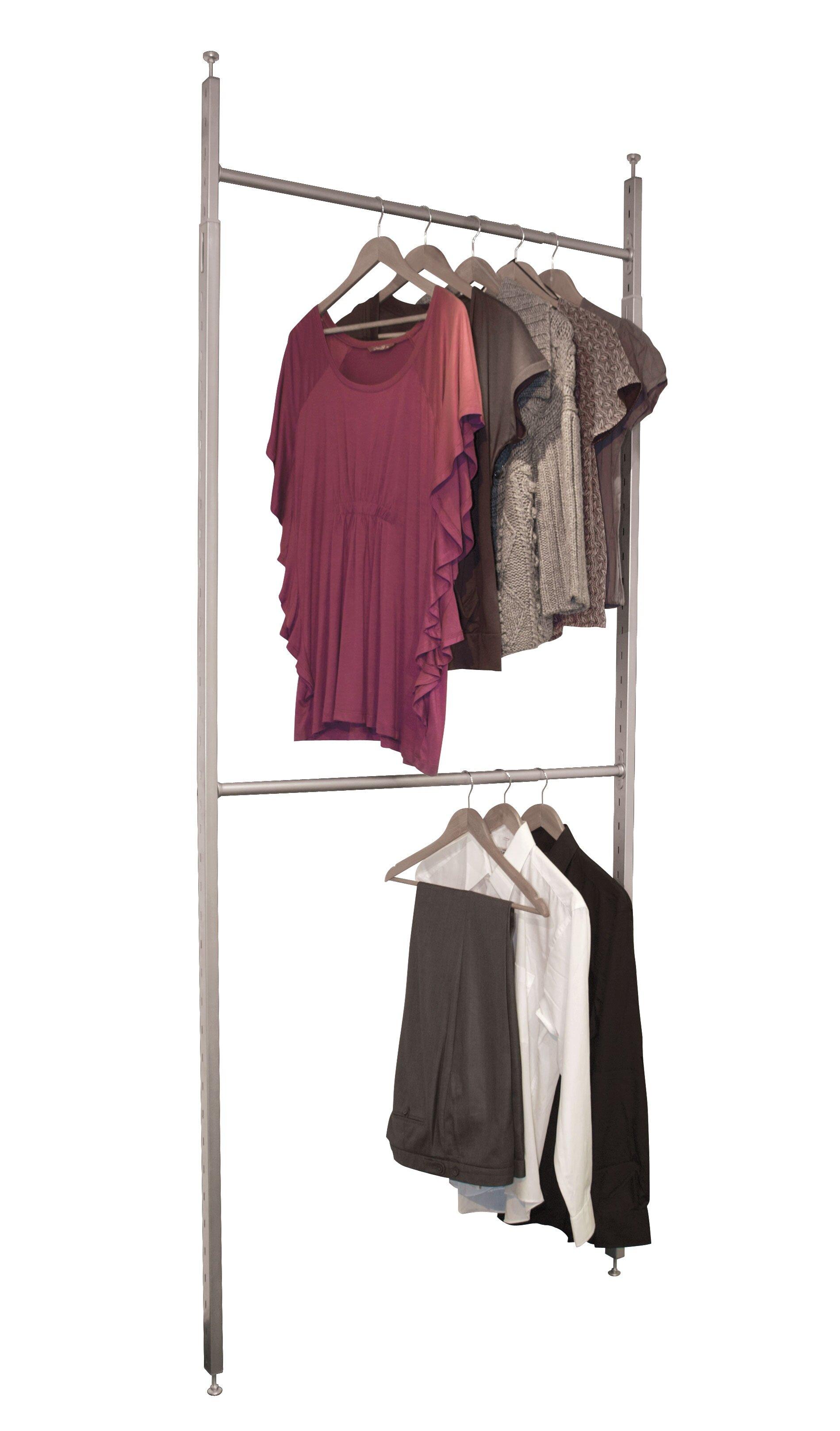 walmart ip garment with rack chrome wardrobe wheels deluxe kids mainstays com