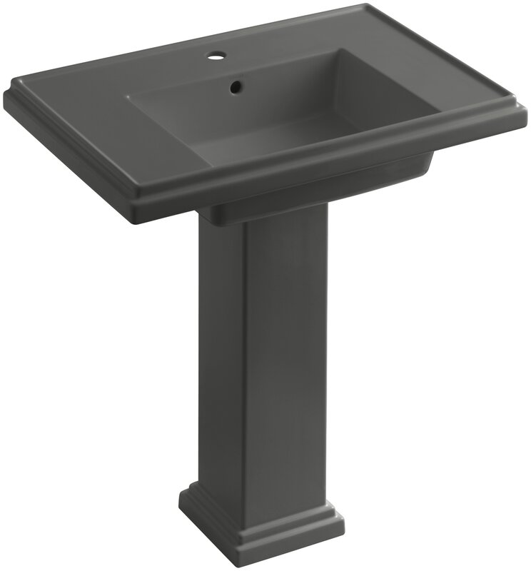 "Bathroom Sinks Reviews kohler tresham® 30"" pedestal bathroom sink with overflow & reviews"