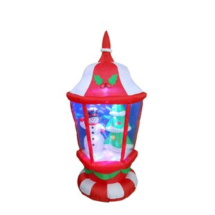 christmas lantern with snowmen and christmas tree inflatable lighted display - Snoopy Blow Up Christmas Decorations