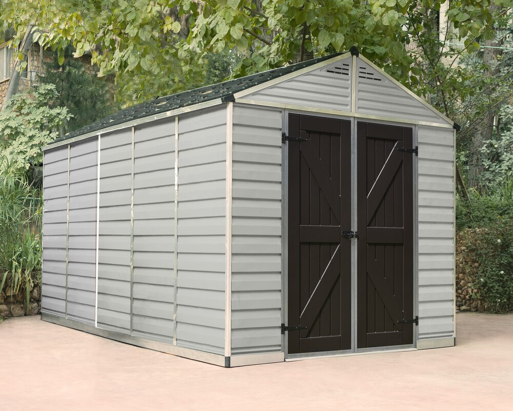 Garden Sheds 5 X 9 palram skylight™ 7 ft. 9 in. w x 12 ft. 5 in. d plastic storage