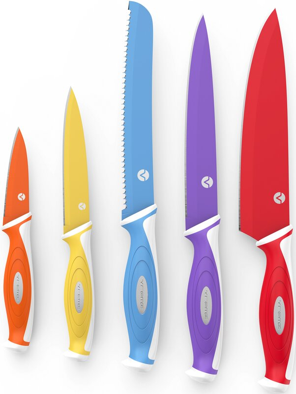 Vremi 5 Piece Chef Knife Set Reviews Wayfair