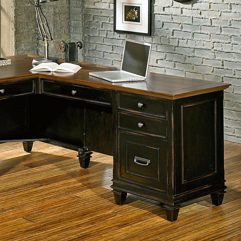 Martin Furniture Hartford 3 Piece L Shaped Desk Office