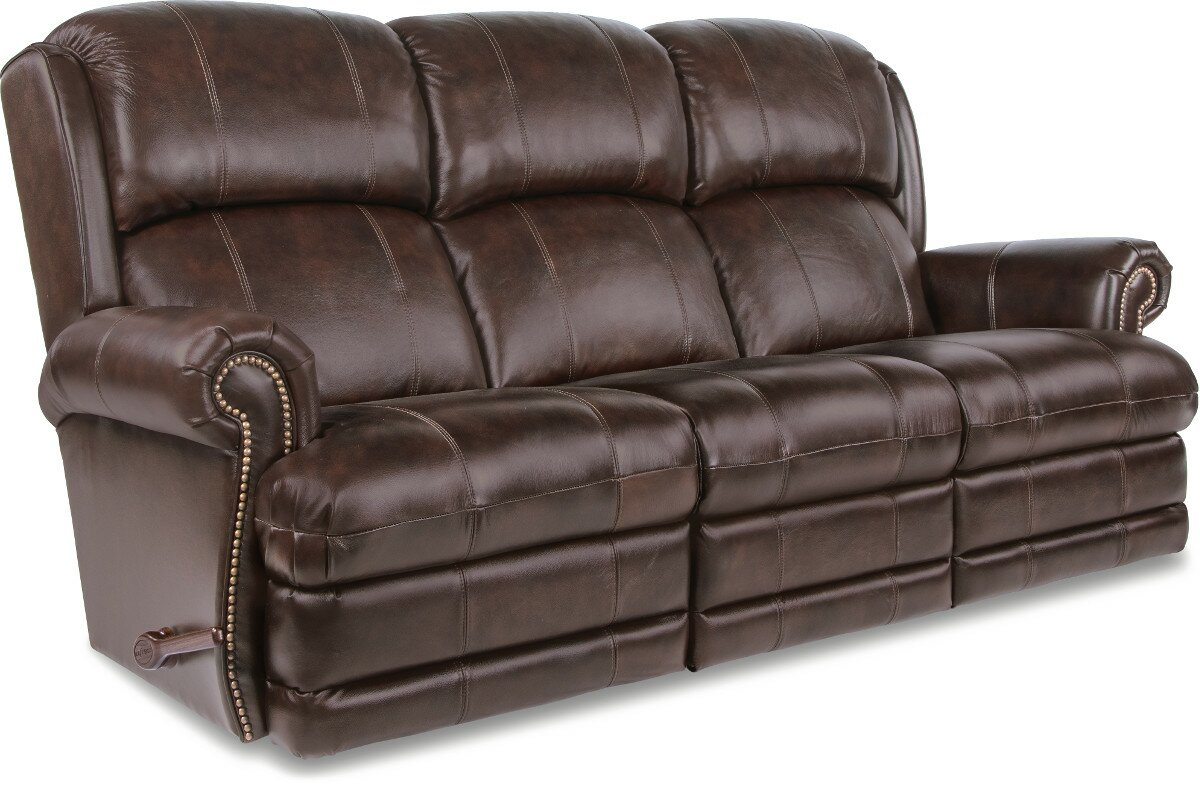 Kirkwood Reclina Way® Full Leather Reclining Sofa Part 89