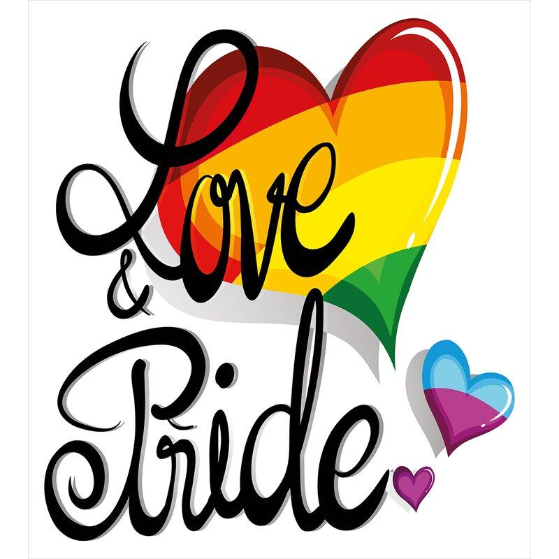 Vibrant Big and Little Hearts Lesbian Romantic Design Love and Pride Duvet  Cover Set