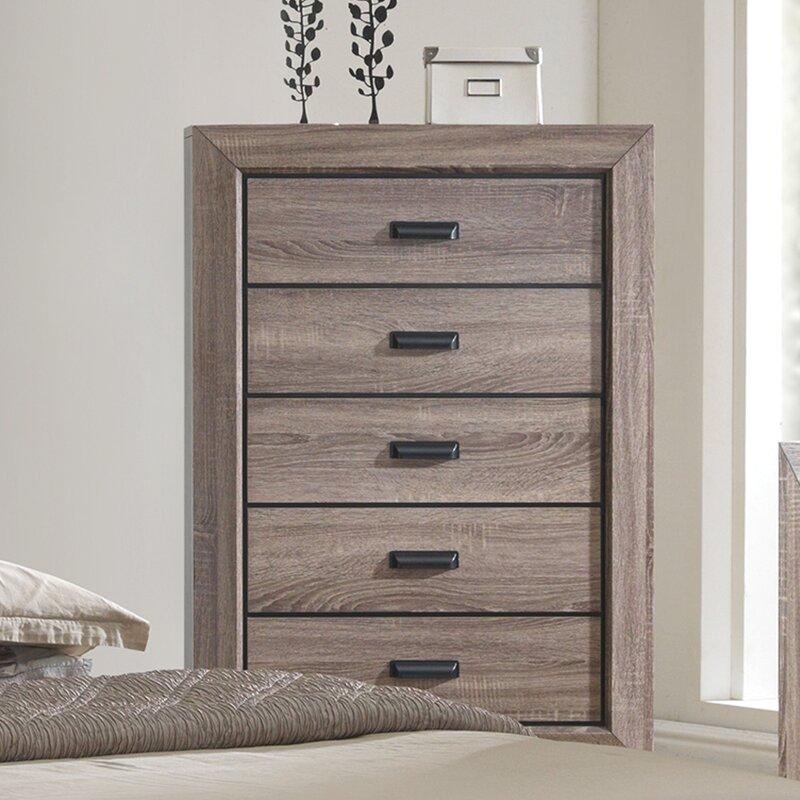 Crown Mark Farrow Queen Bedroom Group: Gracie Oaks Carnegie Platform Configurable Bedroom Set