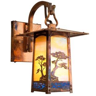 Cobblestone 1 Light Outdoor Wall Lantern