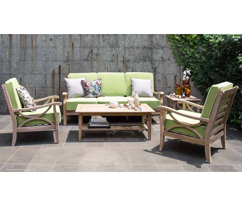 Kensington 5 Piece Teak Sofa Set With Cushions