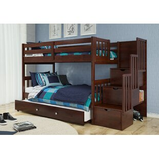 Vao Stairway Twin Over Bunk Bed With Drawer