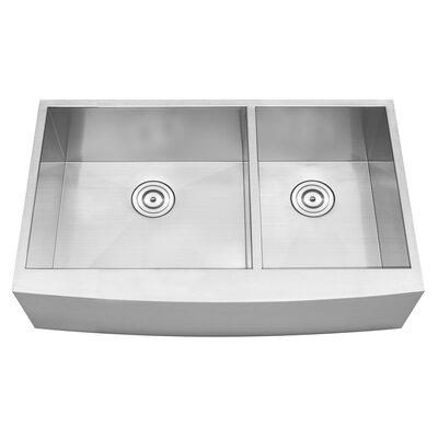 bryce series 36   x 22   double basin apron kitchen sink vigo chisholm 36   x 22   double basin farmhouse kitchen sink      rh   wayfair com