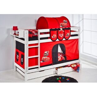 Belle Bunk Bed with Bottom Bunk Curtain by Wrigglebox
