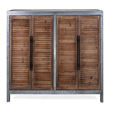 Williston Forge Leigh Gertrude Wood and Metal Sideboard
