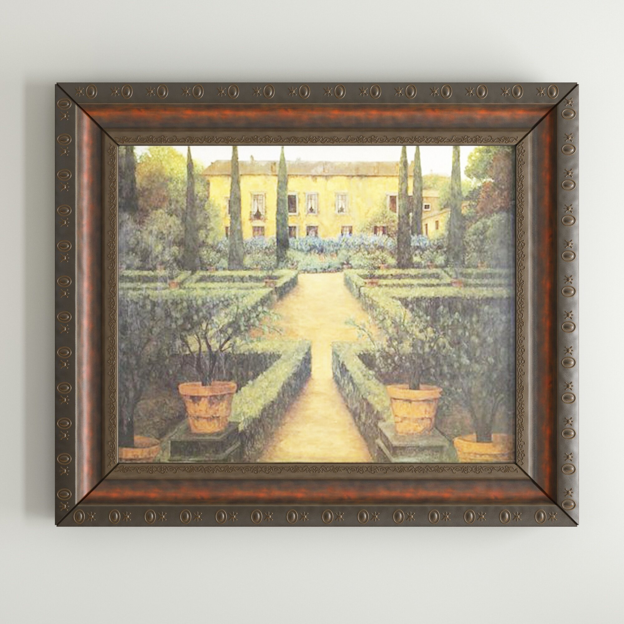 Darby Home Co \'Garden Manor\' Framed Painting Print & Reviews | Wayfair