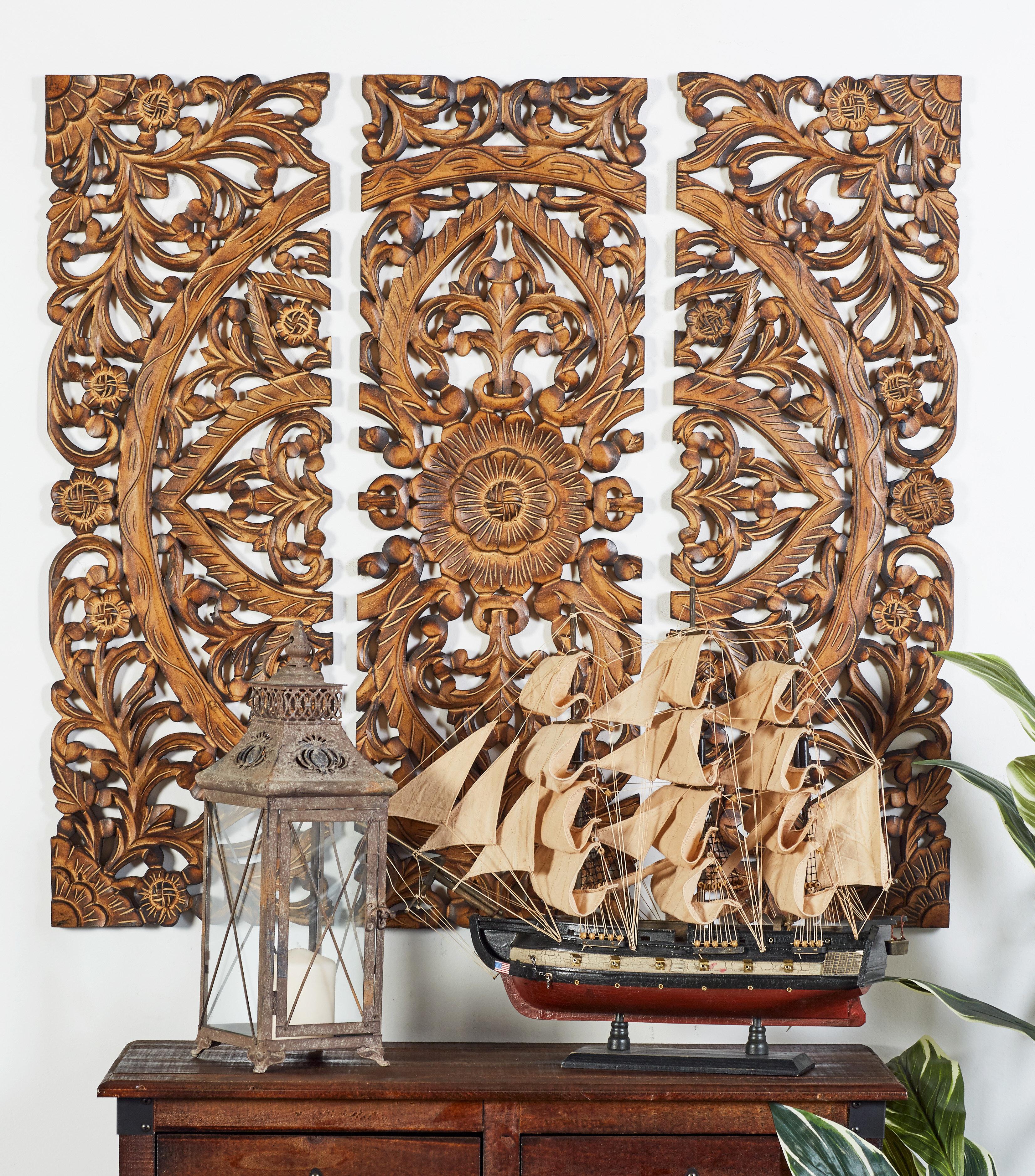 One Allium Way 3 Piece Wood Panel Wall Décor Set & Reviews   Wayfair