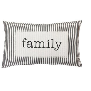 c81624c3ce5 Millar Family Ticking Stripe Cotton Lumbar Pillow